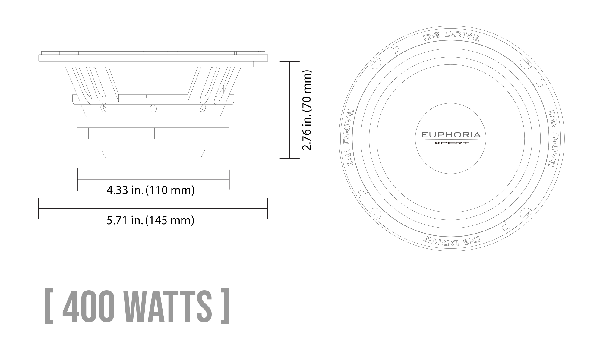 EXM6N Neodymium Series Midrange